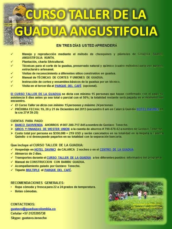 CURSO TALLER DE LA GUADUA ANGUSTIFOLIA 1920122013