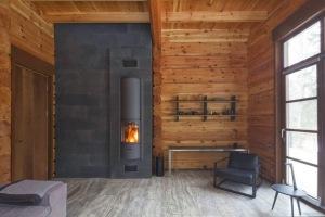 Calentador de casa de madera