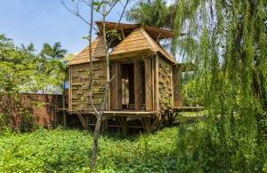 Diseño de casa de bambú
